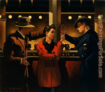 Jack Vettriano Cleo and the Boys II